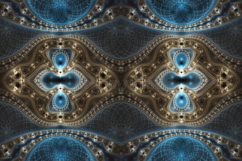 Fondo enérgico multicolor brillante de las ilustraciones de los fractales del extracto futurista brillante único generado por ord ilustración del vector