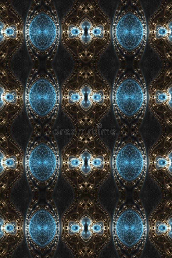 Fondo enérgico multicolor de las ilustraciones de los fractales del extracto futurista brillante único generado por ordenador art libre illustration
