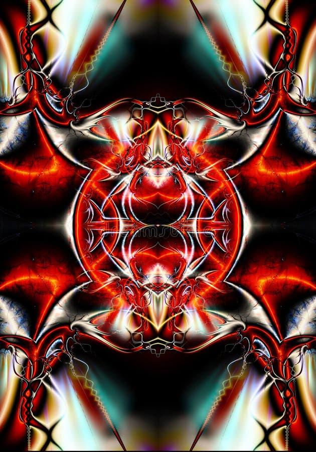 fondo enérgico multicolor de las ilustraciones de los modelos del fractal del extracto futurista único artístico generado por ord ilustración del vector