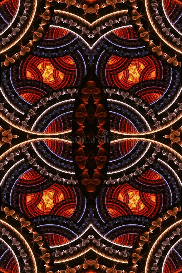 fondo enérgico multicolor de las ilustraciones de los modelos del fractal del extracto futurista brillante único artístico genera ilustración del vector