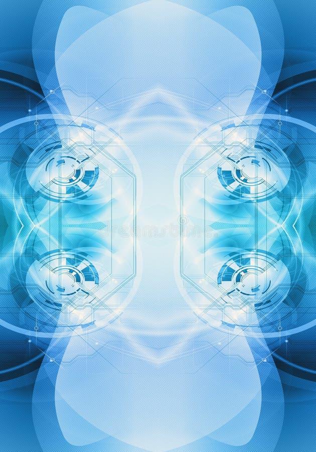Fondo enérgico puro generado por ordenador artístico del fractal del extracto 3d stock de ilustración