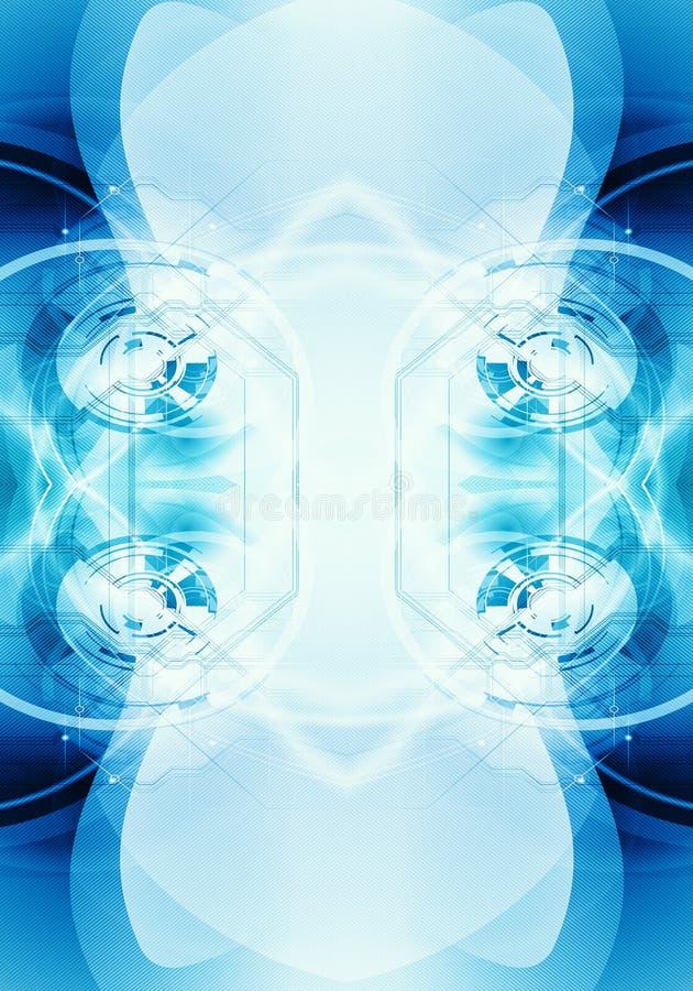 Fondo enérgico puro generado por ordenador artístico del fractal del extracto 3d ilustración del vector