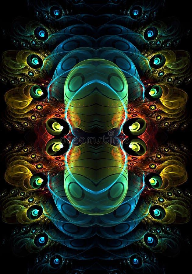 Fondo enérgico puro generado por ordenador de la red del fractal del extracto 3d stock de ilustración