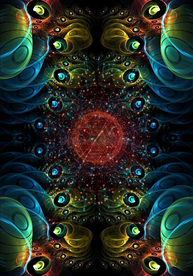 Fondo enérgico puro liso generado por ordenador de la red del fractal del extracto 3d libre illustration