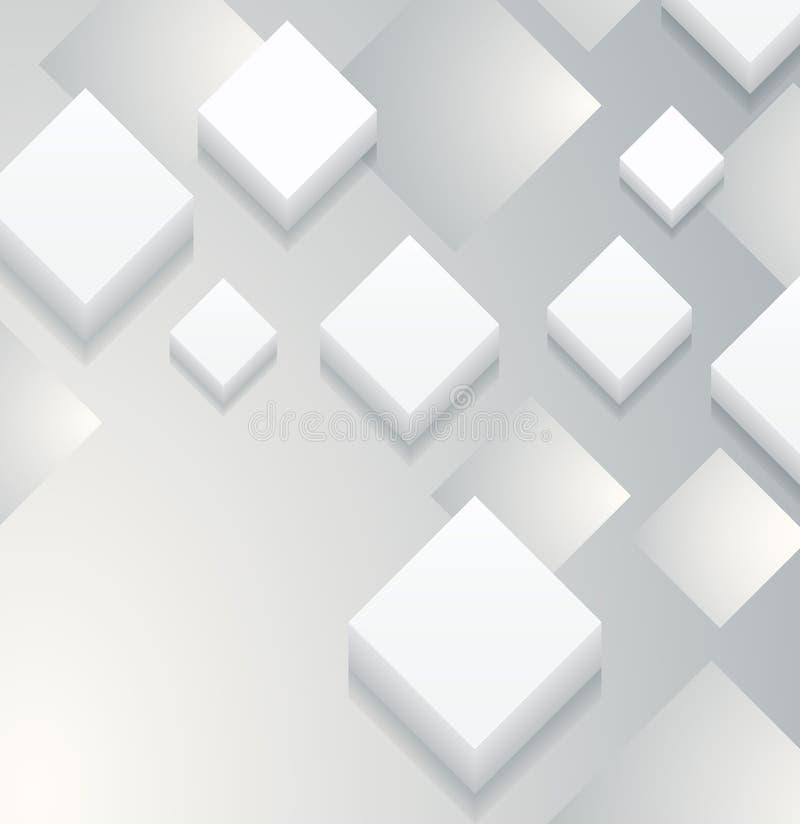 Fondo en blanco cuadrado (vector) imagenes de archivo