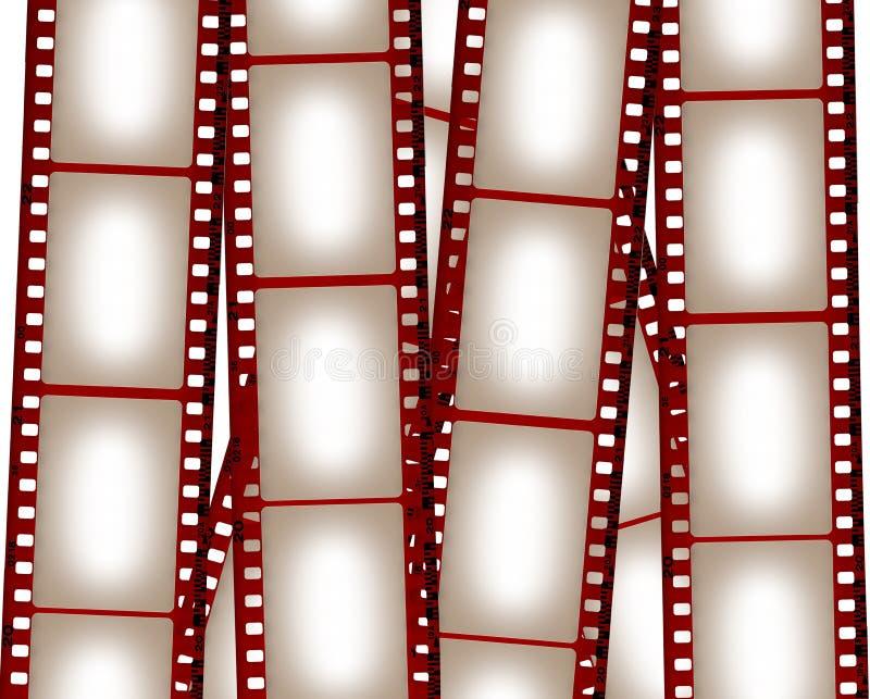 Fondo en blanco de la película stock de ilustración