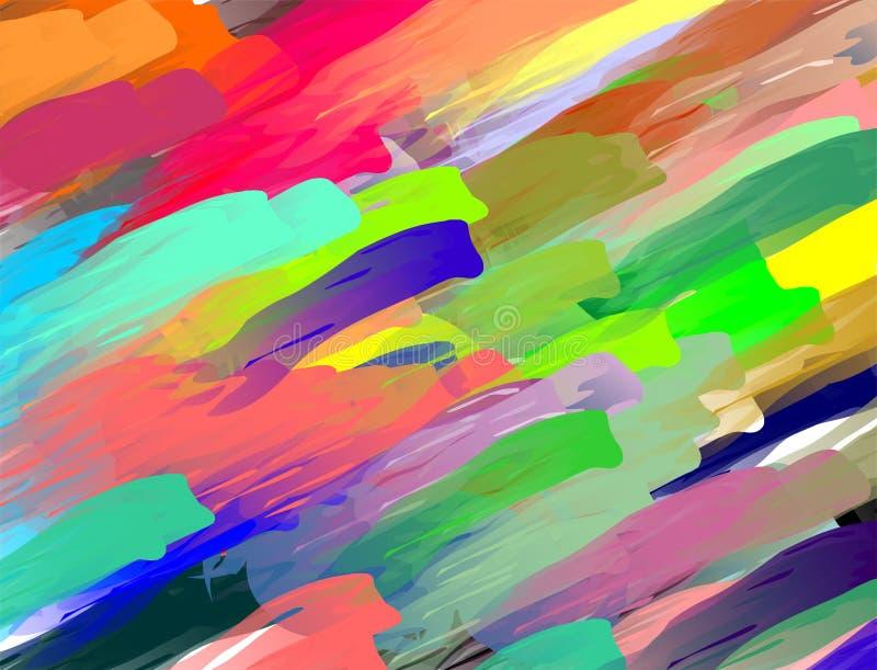 Fondo en colores pastel abstracto colorido stock de ilustración