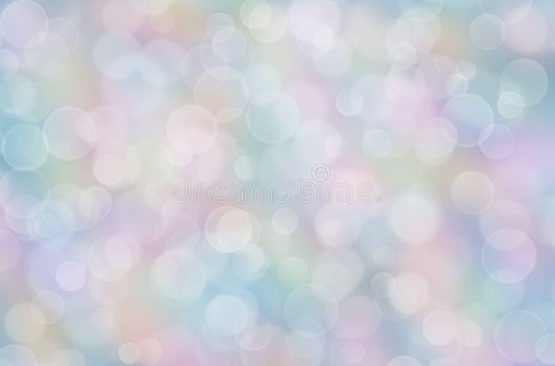 Fondo en colores pastel abstracto del arco iris con el boke fotografía de archivo