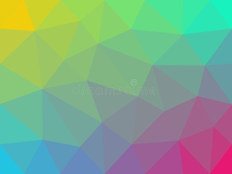 Fondo en colores pastel colorido del extracto del polígono ilustración del vector