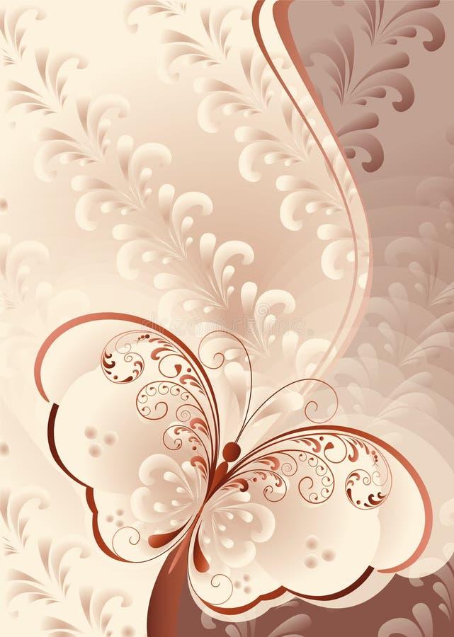 Fondo en colores pastel con la mariposa libre illustration
