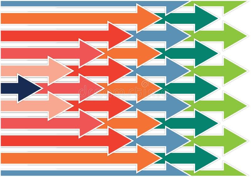 Flechas a la dirección correcta ilustración del vector