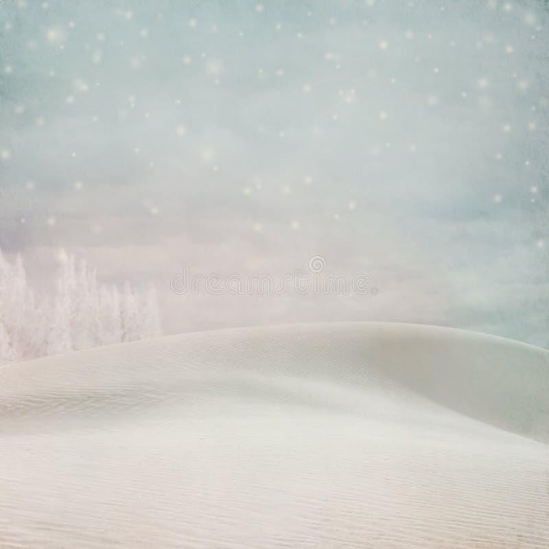 Fondo en colores pastel de la nieve del invierno libre illustration