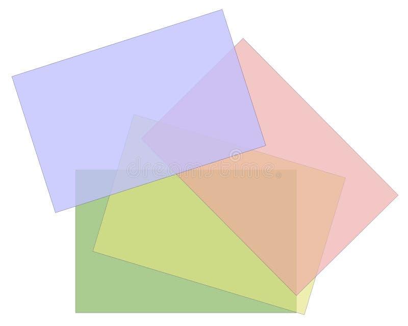 Fondo en colores pastel de papel opaco ilustración del vector