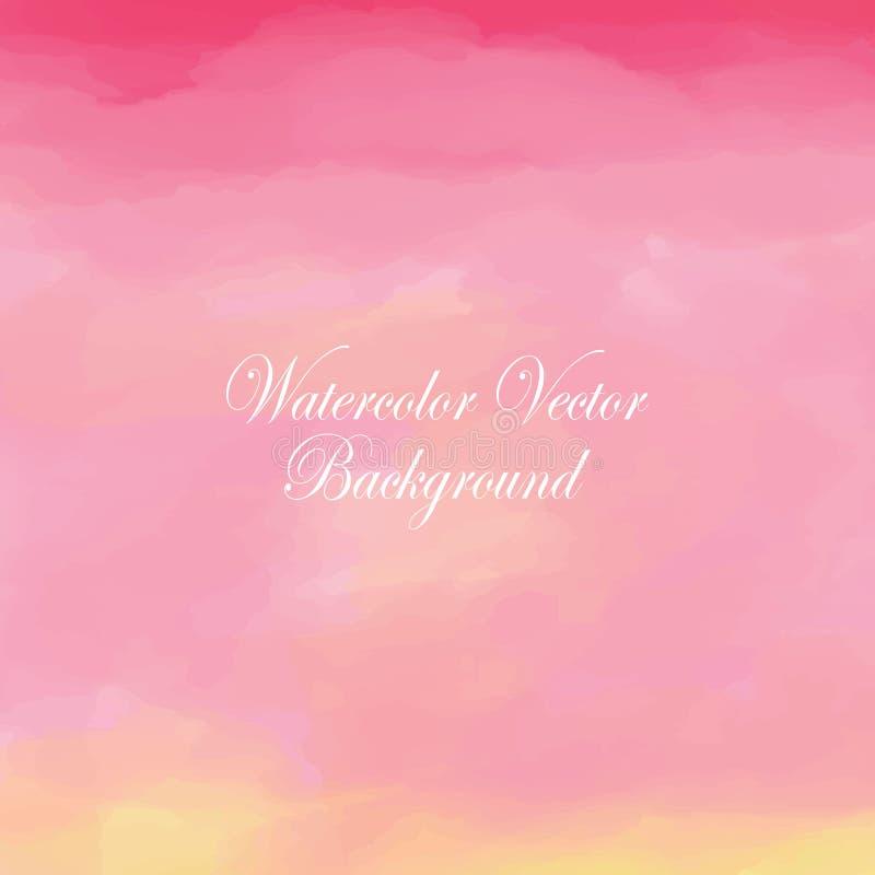 Fondo en colores pastel del amor rosado blanco ligero del amarillo anaranjado en invierno ilustración del vector