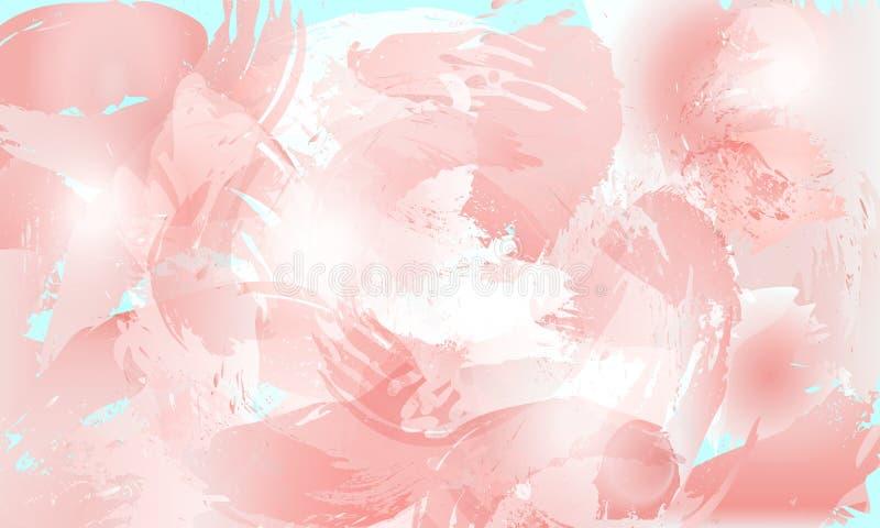 Fondo en colores pastel del chapoteo suave en tintes color de rosa ilustración del vector