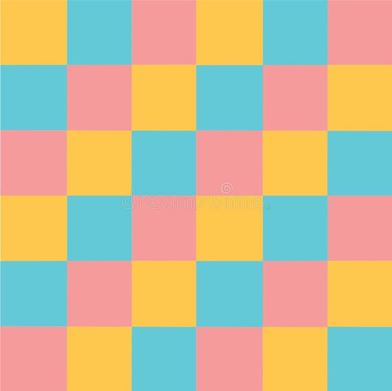 Fondo en colores pastel multicolor del extracto del modelo de los cuadrados del vector stock de ilustración