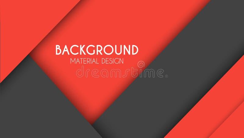 Fondo en el estilo del diseño material stock de ilustración