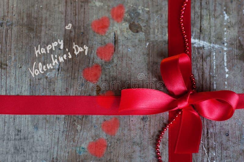 Fondo en el estilo elegante lamentable para el día de tarjetas del día de San Valentín fotografía de archivo