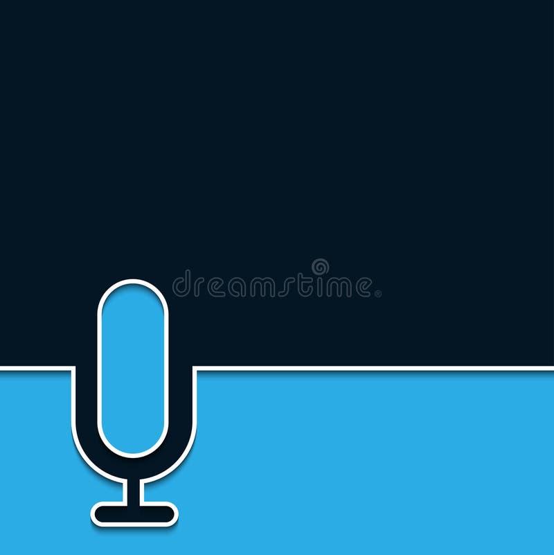 Fondo en línea del micrófono moderno del vector ilustración del vector