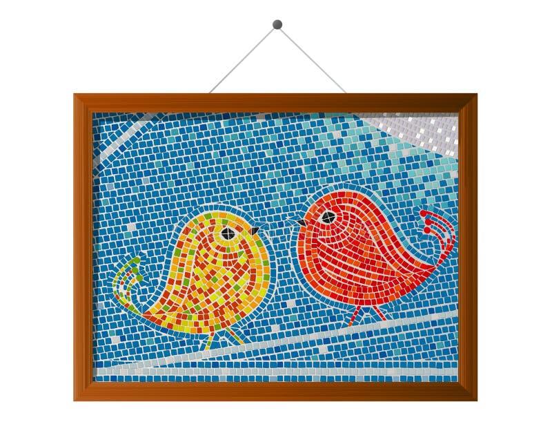 Pájaros De La Teja De Mosaico Fotos de archivo