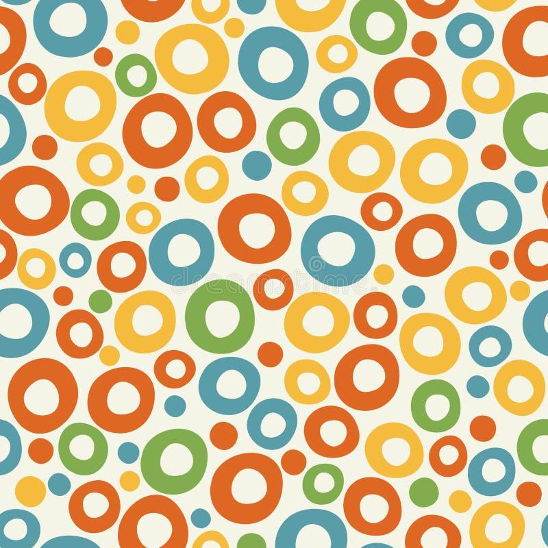 Fondo enrrollado colorido de la burbuja ilustración del vector