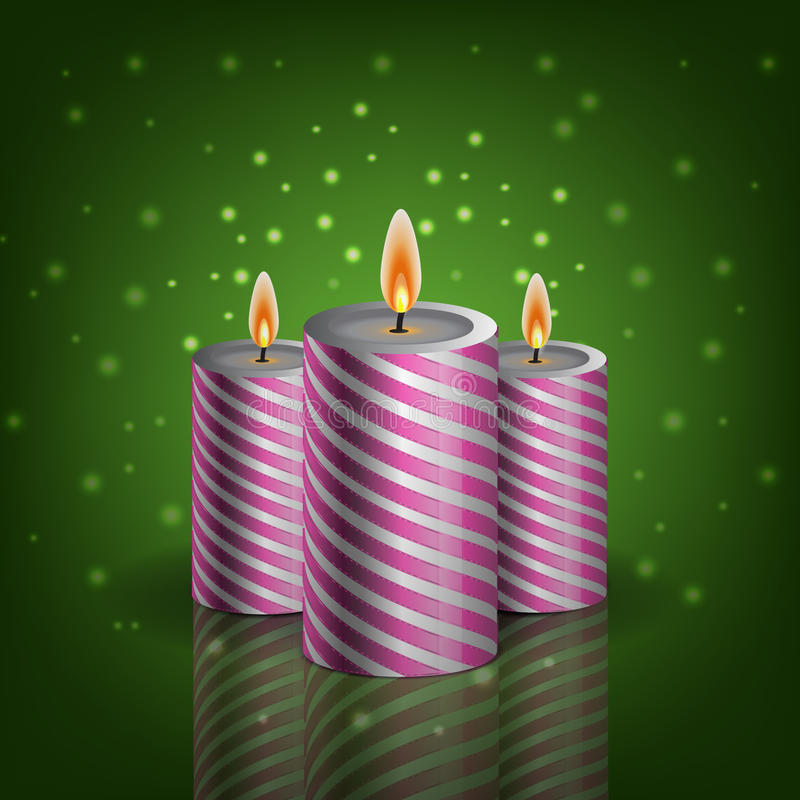 Fondo EPS 10 del verde del cangle de la Navidad ilustración del vector