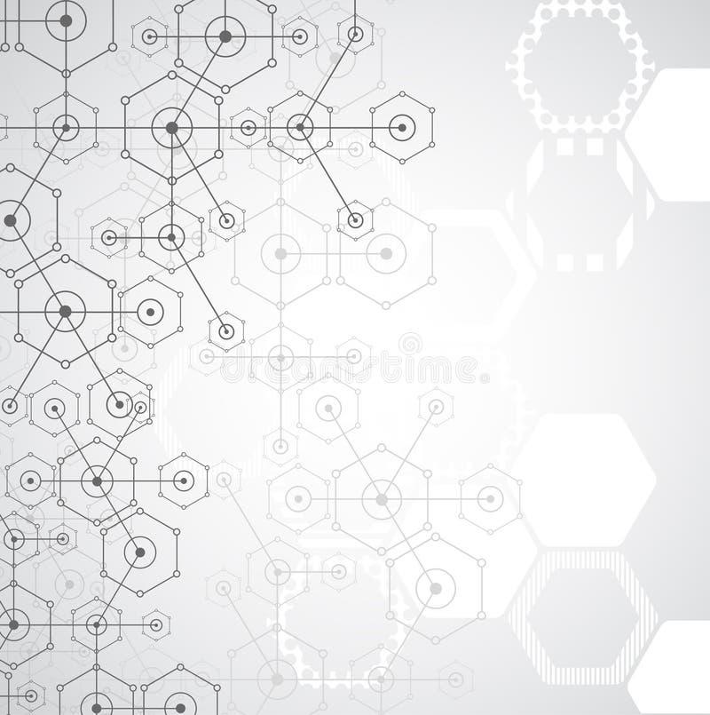 Download Fondo Esagonale Di Tecnologia Luminosa Bianca Astratta Illustrazione Vettoriale - Illustrazione di internet, estratto: 56892954