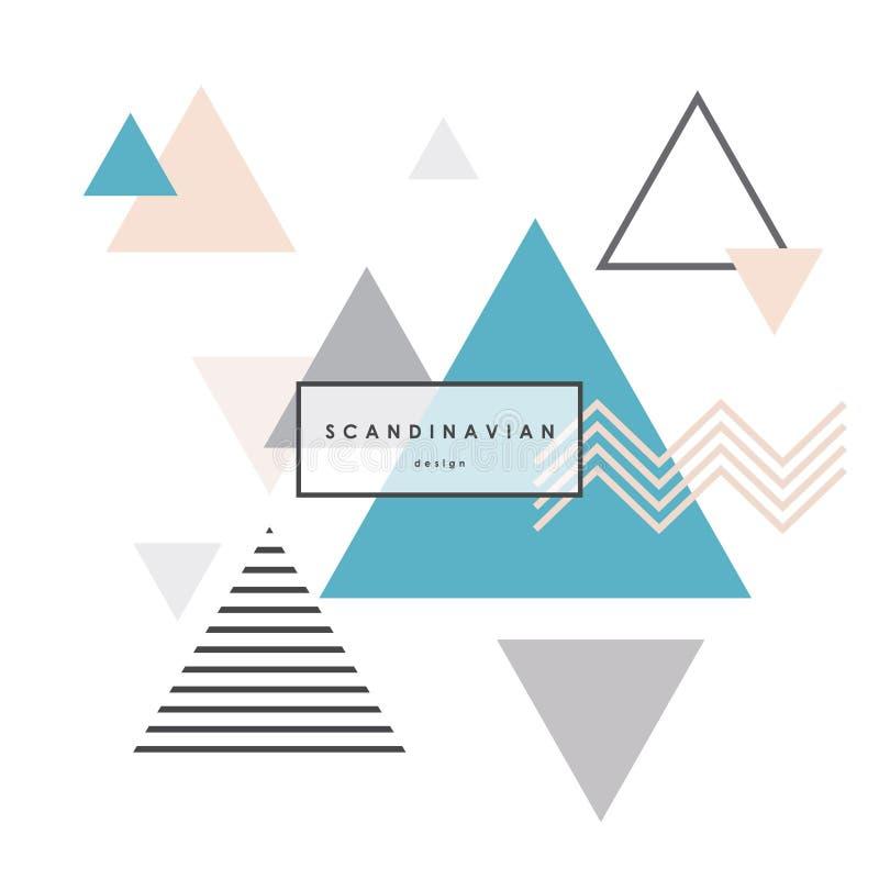Fondo escandinavo minimalista stock de ilustración