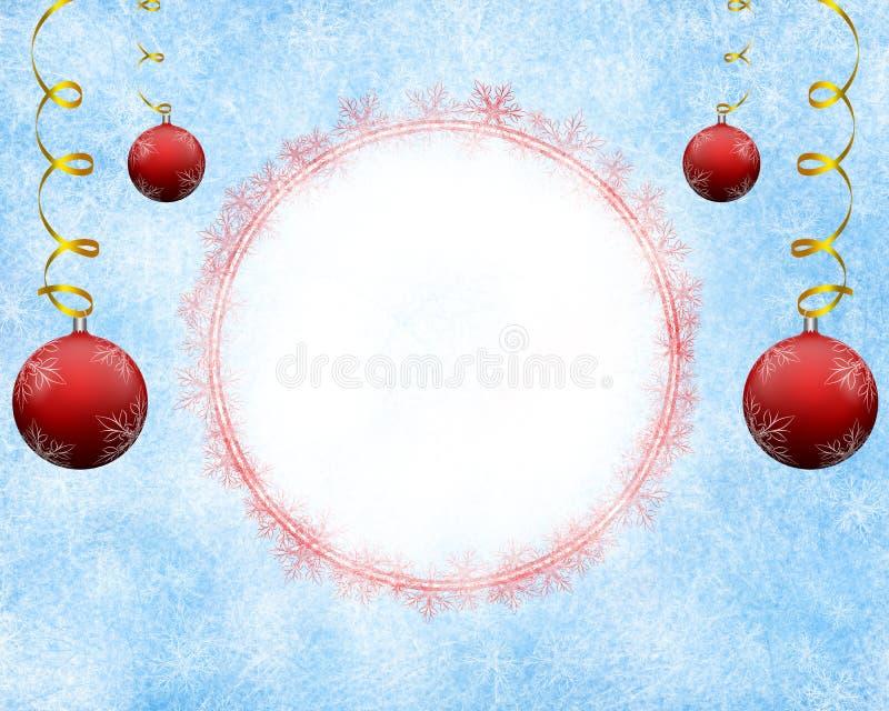 Fondo escarchado de la Navidad con el espacio vacío libre illustration