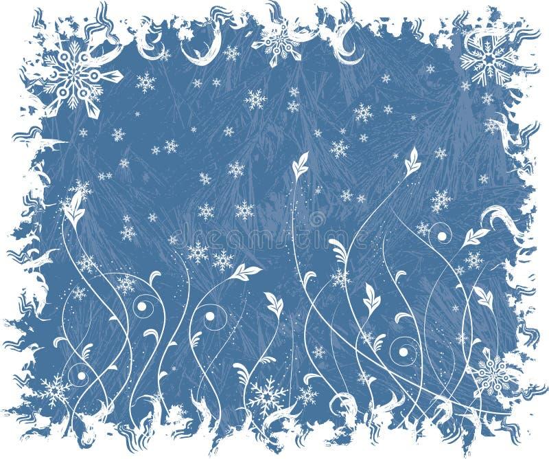 Fondo escarchado de la Navidad, vector ilustración del vector
