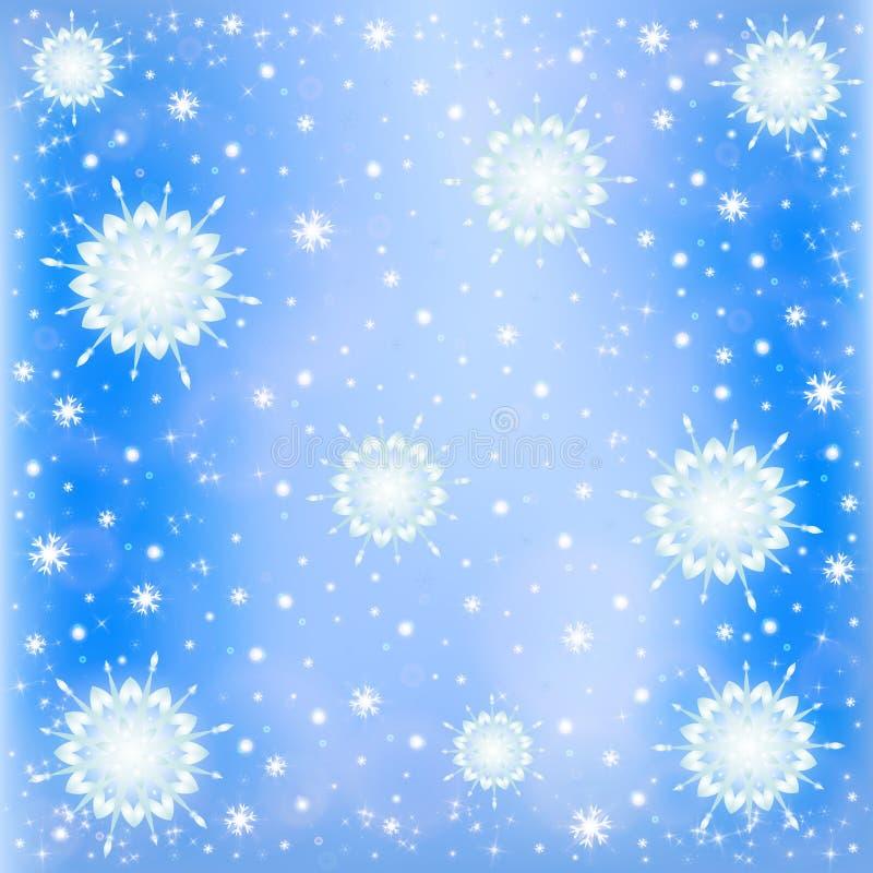 Fondo escarchado de la nieve del invierno stock de ilustración