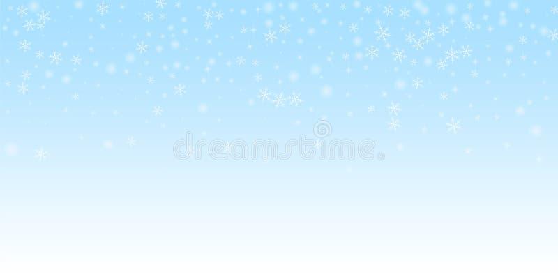 Fondo escaso de la Navidad de la nieve que brilla intensamente F sutil ilustración del vector