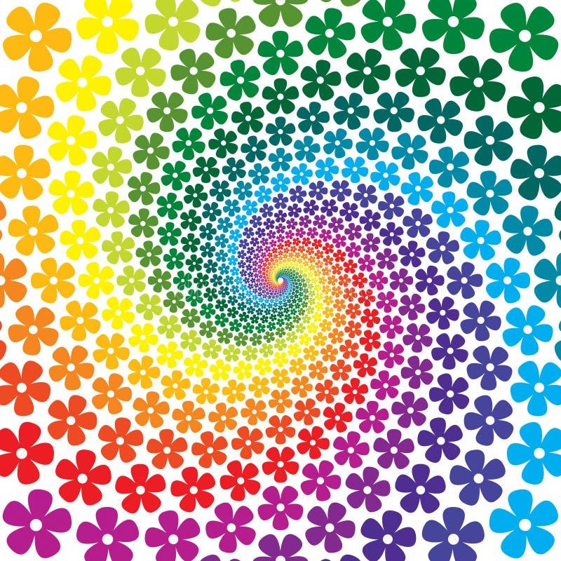 Fondo espiral de la flor ilustración del vector