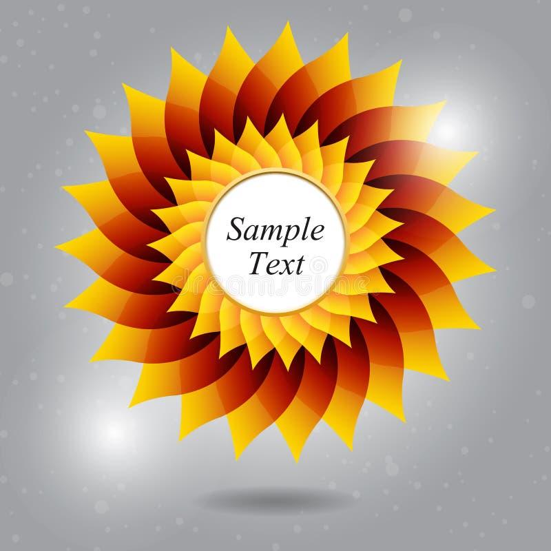 Fondo espiral de la flor con la colocación del texto fotografía de archivo libre de regalías