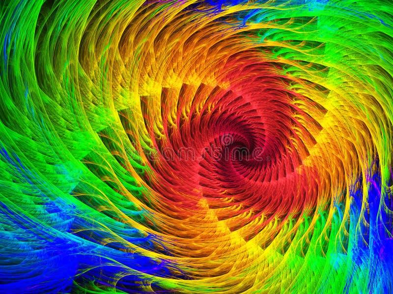 Fondo espiral del fractal stock de ilustración