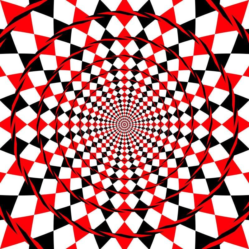 fondo espiral falso de la ilusión óptica stock de ilustración