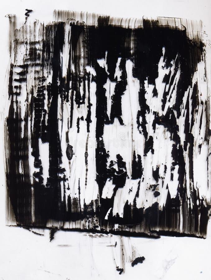 Fondo espressivo di arte moderna di timore aggressivo royalty illustrazione gratis