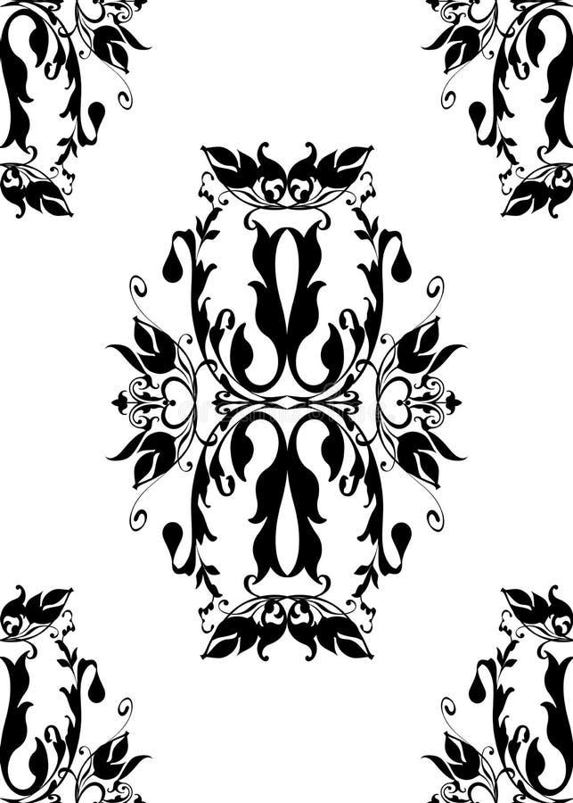 Fondo estilizado de la vendimia blanca negra stock de ilustración