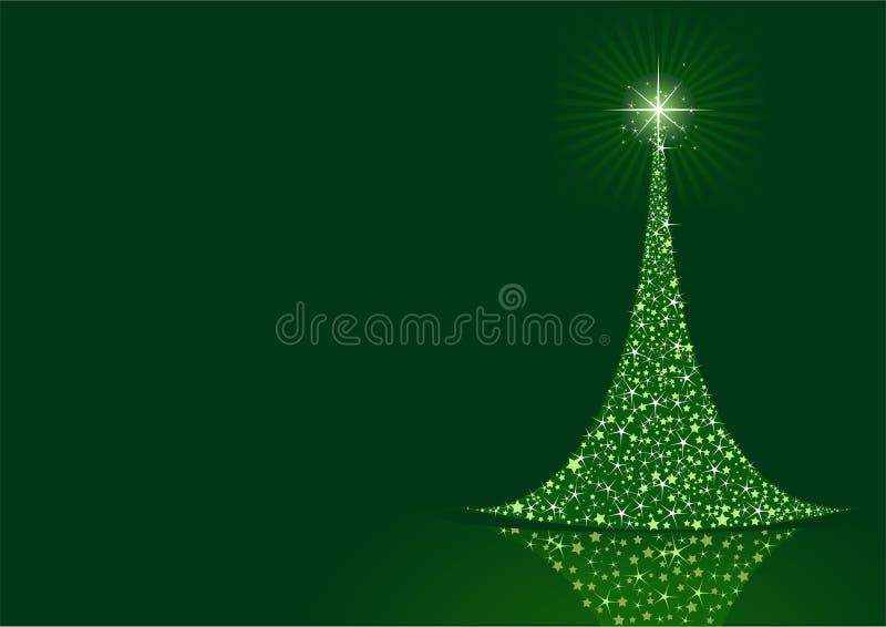Fondo estilizado del árbol de navidad ilustración del vector