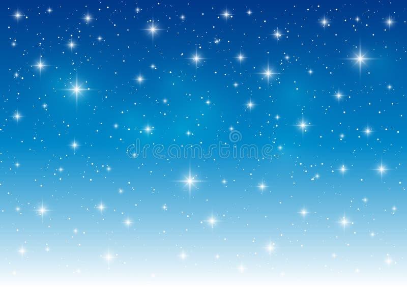 Fondo estrellado azul abstracto ilustración del vector