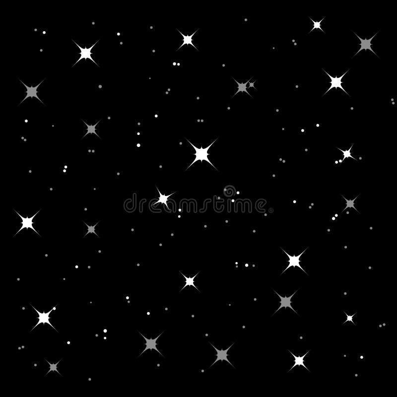 Fondo estrellado brillante (vector) ilustración del vector
