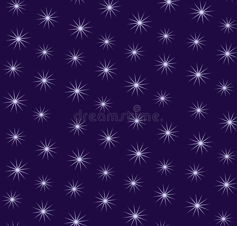 Fondo estrellado del cielo stock de ilustración