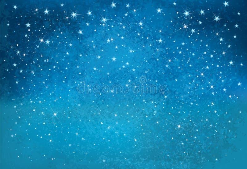 Fondo estrellado del cielo de la noche del vector stock de ilustración