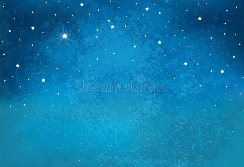 Fondo estrellado del cielo de la noche del vector ilustración del vector