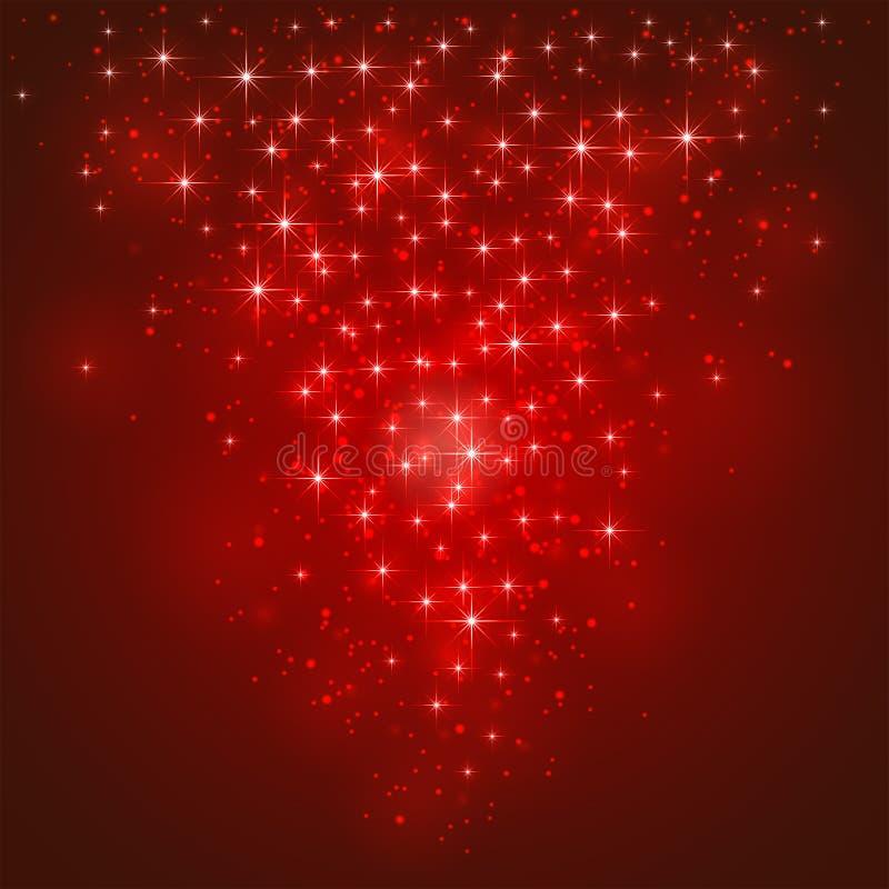 Fondo estrellado rojo ilustración del vector