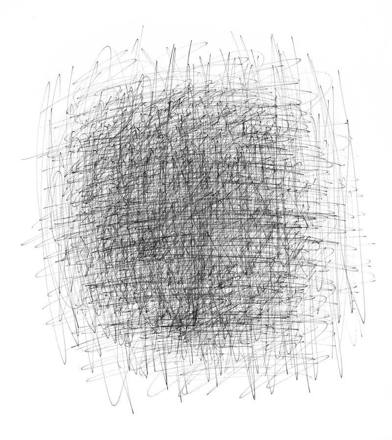 Fondo estridente de la tinta negra stock de ilustración
