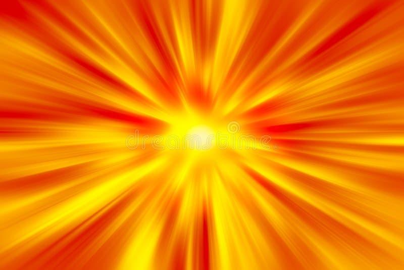 Fondo estupendo del movimiento de la velocidad rápida de la aceleración caliente del fuego stock de ilustración