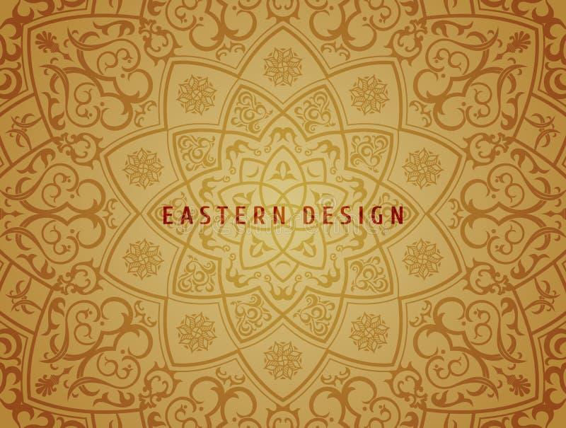 Fondo etnico di vettore Progettazione d'annata della mandala del modello per gli inviti, carte Floreale orientale Ornamento orien illustrazione di stock