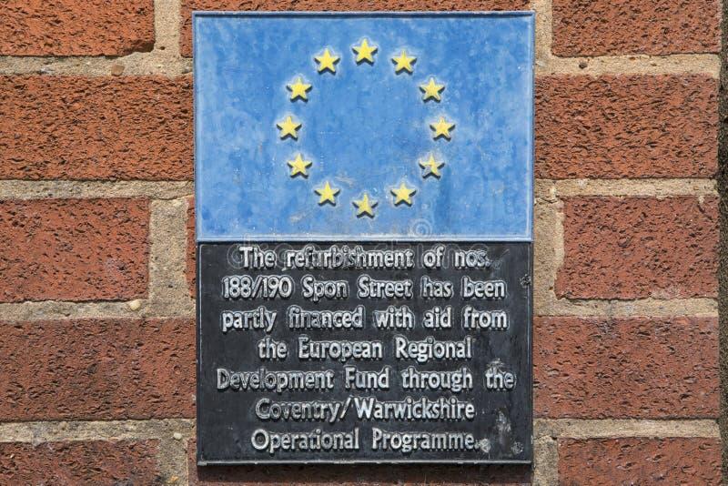 Fondo europeo di sviluppo regionale immagini stock libere da diritti