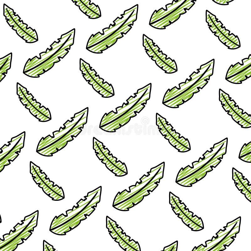 Fondo exótico botánico del estilo de la hoja del garabato libre illustration